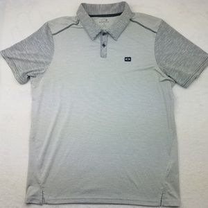 Oakley Collins Tailored Fit Striped Polo Shirt XL